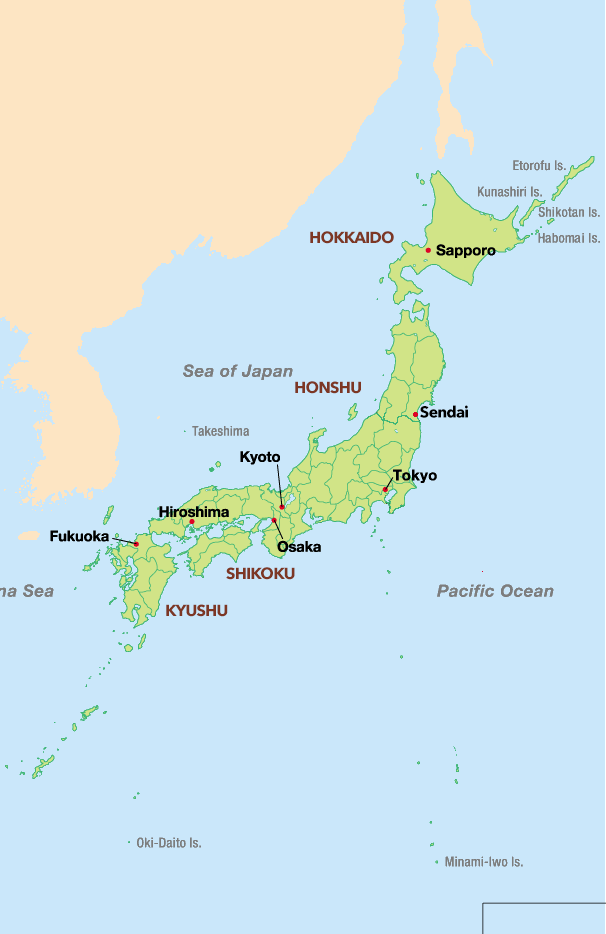 Japanese Studies DigiJap 日本語 - Japan map 7